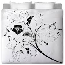 black and white fl comforters
