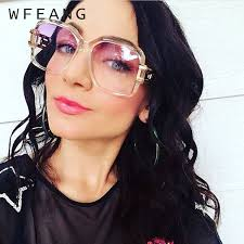 <b>WFEANG Square</b> Oversized Sunglasses Women Men Celebrity ...
