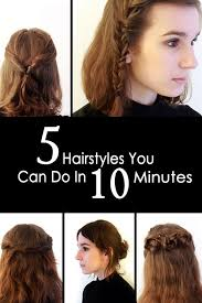 5 quick easy hairstyles you can do in under 10 minutes