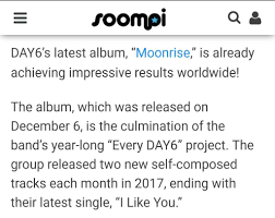 Itunes Global Charts Day6 Tops Global Itunes Charts With Moonrise