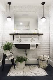bathroom white subway tile with dark floor. Trendy Bathroom White Subway Tile With Dark Floor Black And O