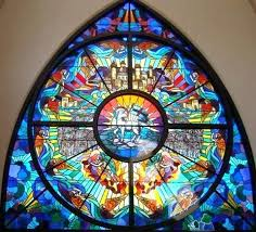 contemporary stained glass windows eternal restoration church