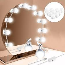 makeup mirror vanity 10 led light bulbs kit usb charging port cosmetic make up mirrors bulb adjustable brightness light 288348 mirror vanity mirrors for