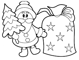 Printable Christmas Santa Claus With Sack
