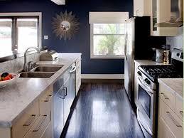 kitchen white cabinets blue walls photo 11