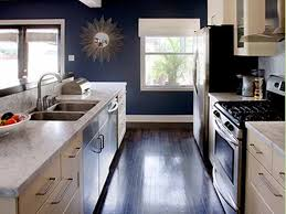 kitchen white cabinets blue walls photo 11