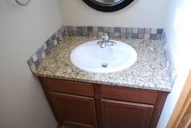 Granite Bathroom Tile Bathroom Granite Backsplash Height Crerwin