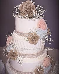 Burlap And Lace Rustic Elegance Buttercream Wedding Cake