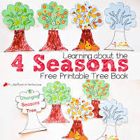 4 Seasons Chart Learning About The 4 Seasons Cute Free Printable Tree Book