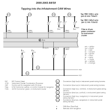 audipages installing can wires for the navigation plus unit wiring diagram for infotainment can wires at cluster click image for full size image