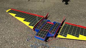 organic solar cell powered rc plane glider solar cell mounting