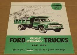 ford 1954 series f 900 truck sales brochure Ford Explorer Wiring Diagram Ford F500 Wiring Diagram #22