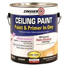 Lowes Bathroom Paint Shop Zinsser Ceiling Bright White Flat Water Based Enamel Interior