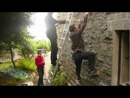 build a climbing wall on your house