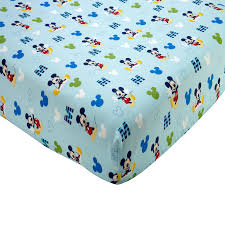 mickey mouse m is for mickey fitted crib sheet