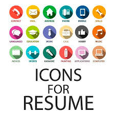Resume Icons Enchanting Icons Set For Your Resume CV Job Royalty Free Cliparts Vectors