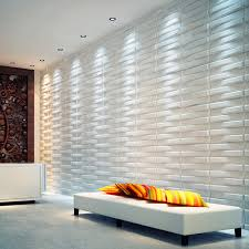a21041 three d wall panels wave paintable paneling white 12 tiles 32 sf