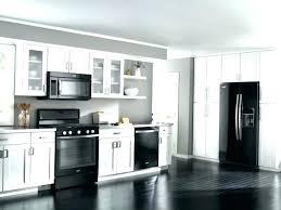 kitchen design white cabinets black appliances. Kitchen White Cabinets Black Appliances With Stainless . Design I