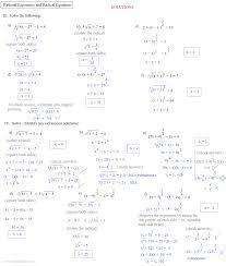 solving radical equations worksheet unique algebra 2 chapter 5