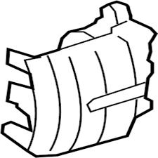 Vehicle seat belt parts diagram