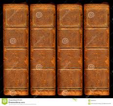 old vine leather book spines