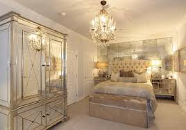 image of rose gold mirrored bedroom furniture