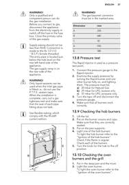 aeg gas cooker 17166gmmn user manual Cooker Fuse Box page 27 warning! only a qualified and competent person can do the gas installation cooker fuse box