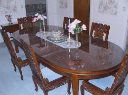 chinese hand carved dining room table chairs
