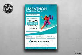 bies marathon fundraiser flyer tds psd flyer templates marathon fundraiser event psd flyer template