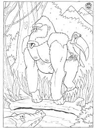 1001 Kleurplaten Dieren Gorilla Kleurplaat Gorilla