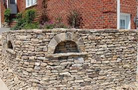 dry stacked stone wall water saver