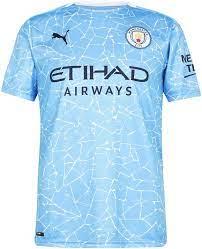 PUMA Men's Jersey 20/21 Home Manchester City FC Replica with Sponsor Logo  T-Shirt : Amazon.de: Fashion
