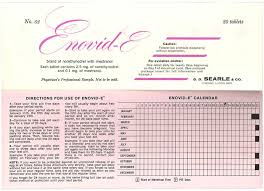 Enovid-E, An Early Birth Control Pill (1964), At Mum