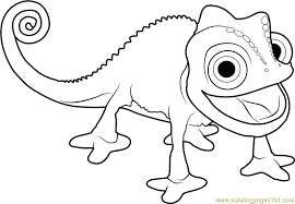 Small Picture Pascal the Chameleon Coloring Page Free Tangled Coloring Pages