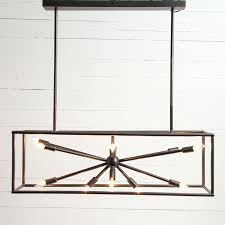 rectangular iron chandelier industrial home french charles