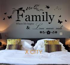 Captivating Family Where Life Begins Quote WORDS BEDROOM WALL ART STICKER REMOVABLE  VINYL TRANSFER DECAL HOME DECORATION