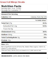 100 gr fed ribeye boneless steak label