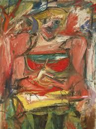 willem de kooning woman v oil on canvas
