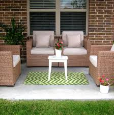 decor ideas patio rugs elegant wicker patio furniture with cushions and chevron target outdoor rugs for