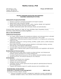 Resume For Project Manager Resume For Management Position Fabulous