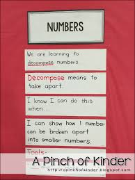 Decomposing Numbers Anchor Chart Teaching Decomposing Numbers In Fdk A Pinch Of Kinder