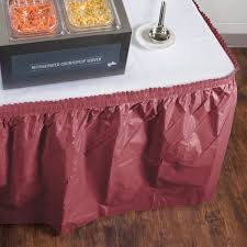 restaurant equipment disposable table skirts