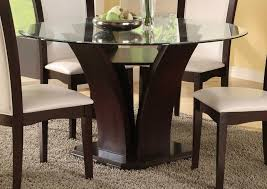 Round Kitchen Tables For 8 Glass Dining Room Table With Wood Base Chairs Awesome Glass