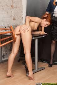 Totally Undressed Secretary Masturbates With Dildos For Staff.