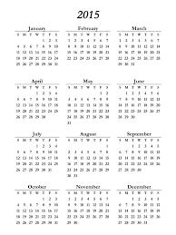 Free Printable 2015 Calendar On One