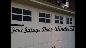 garage doors with windows. Curb Appeal For $10 - Faux Garage Door Windows Doors With
