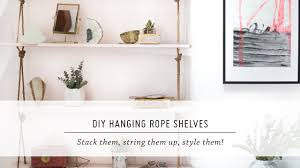 DIY Hanging Rope Shelves | Furniture & Interior Design Tutorial | Mr Kate -  YouTube