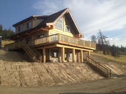 Post And Beam Deck Design Post And Beam Custom Home With A Stunning View Post Beam