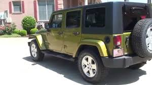 hd video 2007 jeep wrangler sahara rescue green see sunsetmotors you