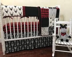 Boy bedding | Etsy & Baby Boy Bedding Set Adrian - Deer Baby Bedding, Red Buffalo Check Plaid,  Black Adamdwight.com